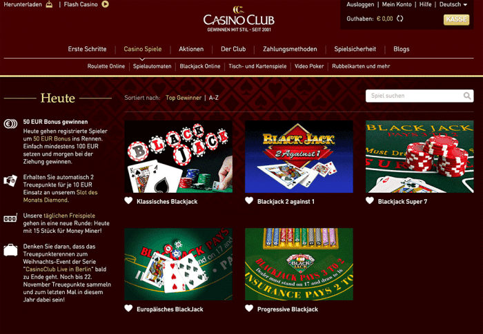 casinoclub blackjack